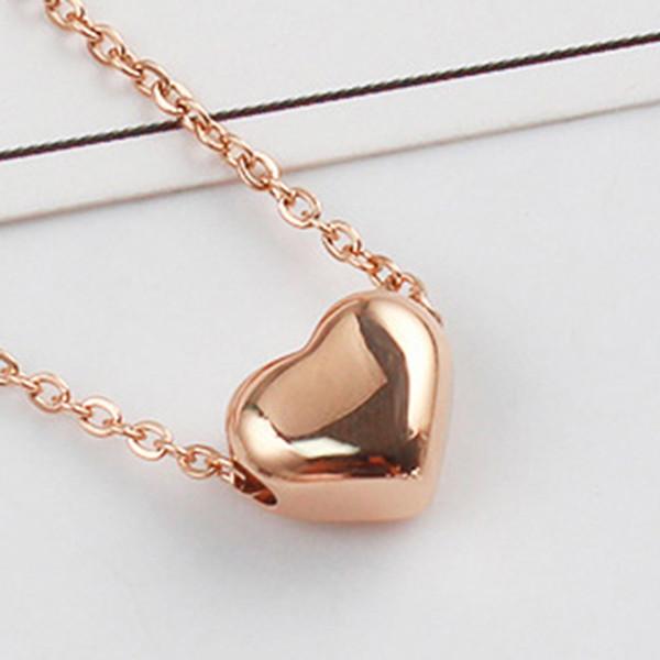 Fashion Jewelry Heart Shape Pendant Choker Chunky Statement Bib Long Chain Gold Necklace For Women Girls