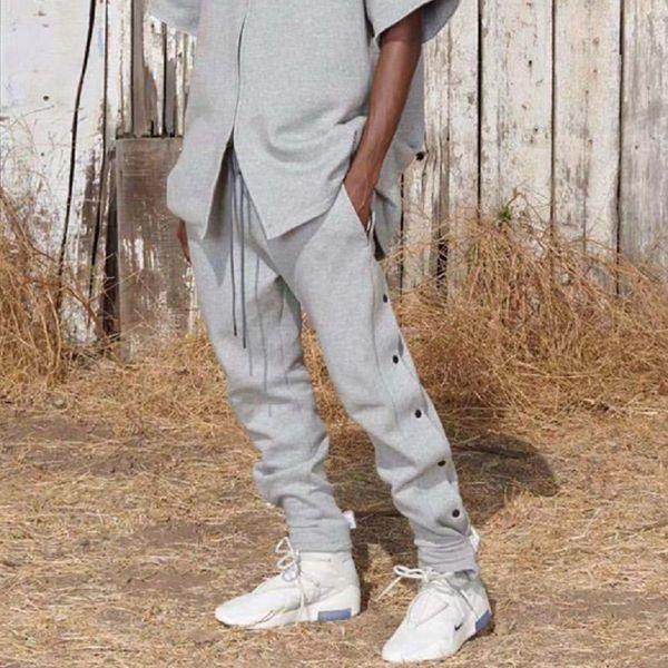 19FW Neueste TOP High Street Hip-Hop Rap Furcht vor Gott Stil Lose Taste Magische klebrige HOSE Freizeit Sweatpants Baumwolle Einfarbig