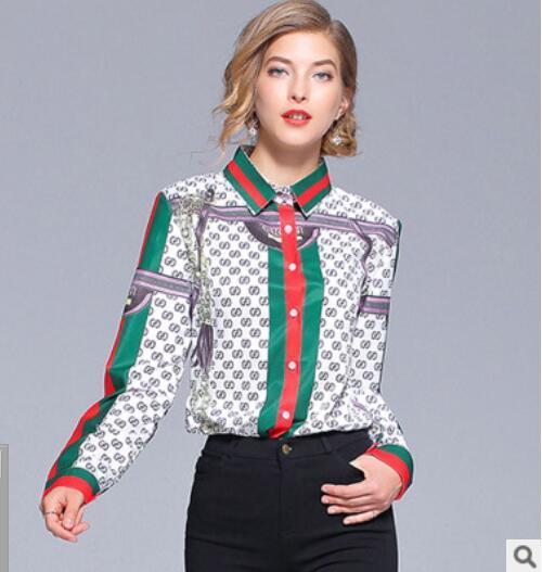 Femme Chemise d'été Marque de mode classique Ins Inserts Sexy palais Slim Lettres à rayures Treillis couture plaid OL blouse Business