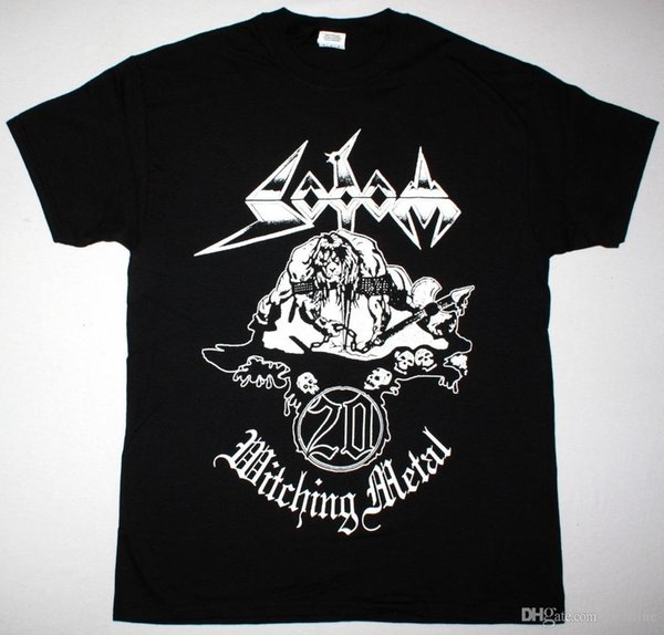 SODOM WITCHING METAL 20 YEARS ANNIVERSARY BLACK T SHIRT GERMAN THRASH KREATORBrand Clothing Men t shirt