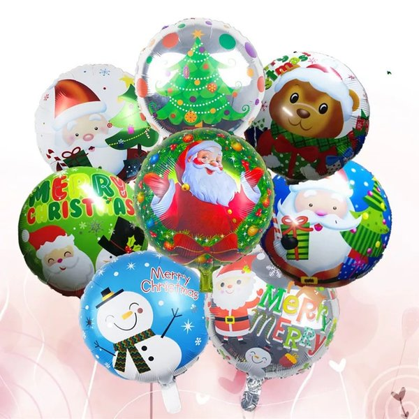 45*45cm Christmas Balloons Santa Claus Foil Balloons Gift Box Globos Christmas Bell Balls Christmas Decorations