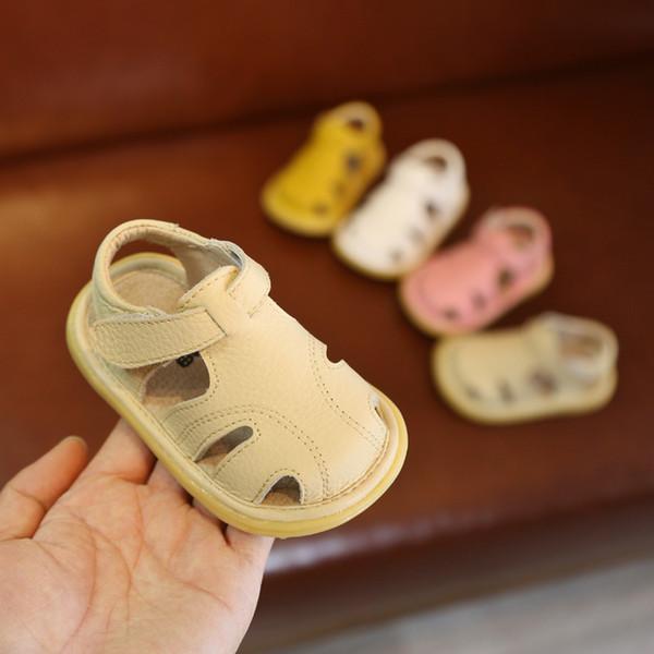 f53f6b92 2019 Nuevos niños de cuero para bebés Zapatos para caminar Sandalias para  mujeres 0113 Hombres de