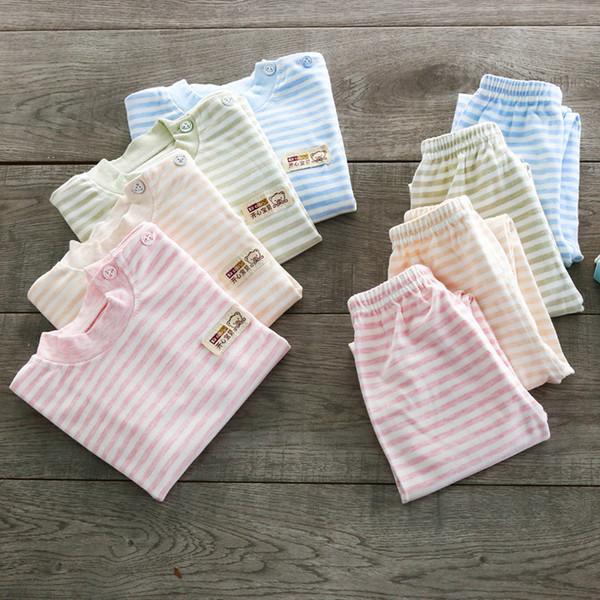 2019 nuevo otoño 100% de los niños de algodón ropa interior térmica de la ropa interior del bebé de la ropa de los niños