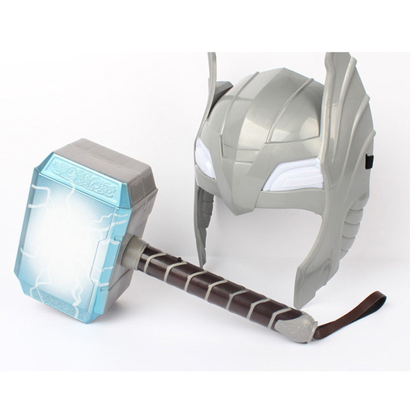 Avengers Alliance Series Cosplay Thor's Hammer Luminous Thor Hammer 28cm Halloween Show Props Weapons Model