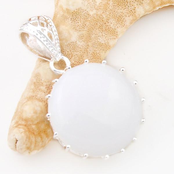 Photo Cabochon Silver Populaire Pendentifs Verre Collier ( chat blanc