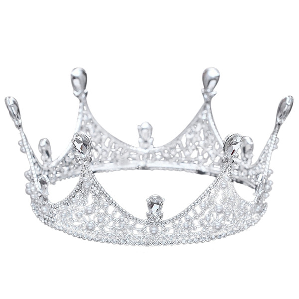 best selling King Full Round Crown Tiara Crystal Wedding Bridal Party Pageant Prom