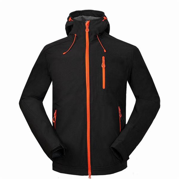 Giacca da campeggio da uomo unica con cerniera Cool Outdoor Alpinismo Assault Nuovo cappotto di velluto misto Soft Jacket Jacket Uomo Ragazzo Abbigliamento