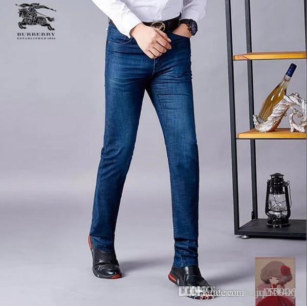 Jeans pour hommes jeans pour hommes de mode coréenne été logo printemps populaire en vrac printemps et en automne style été mince style hommes