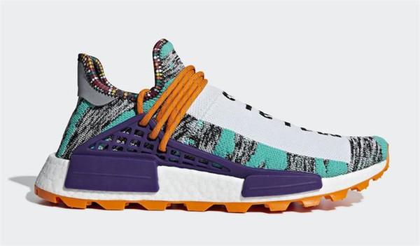2018 Top Pharrell Williams x Originals NMD Hu Trial Solar Pack 3MPOW3R M1L3L3 Human Race Uomo Donna Scarpe da corsa Autentiche scarpe da tennis con scatola