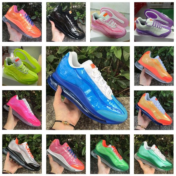 Damla Nakliye 95 Heron Preston Womens Ayakkabı Yüksek Kalite Basketbol Koşu Spor Moda Ayakkabılar Katı Gri Kahverengi Bölünmüş Renk spor ayakkabısı