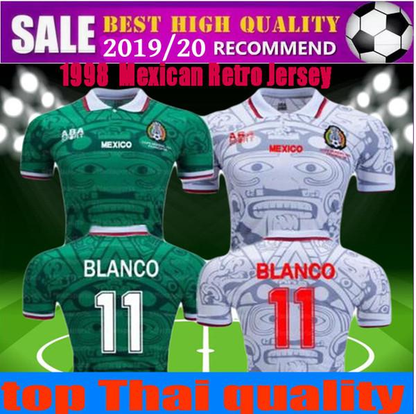 Coupe du Monde Rétro Mexique Maillots 1998 Zidane Henry Vintage Futbol Camisa Football Mexicain Camisetas Shirt Kit Maillot taille S-XXL