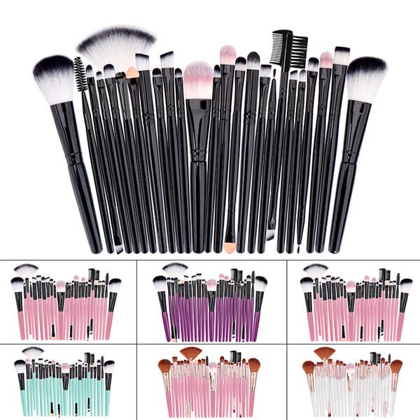 25 Pcs Makeup Brushes Set Cosmetic Tools Make-up Toiletry Kit Soft Synthetic Hair Blending Make Up Brush Set