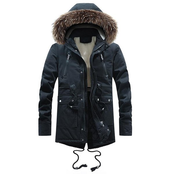 New Arrival Winter Men Cashmere Washed Casual Jackets Zipper Cotton Jacket Large size Thick men's cotton padded jacket