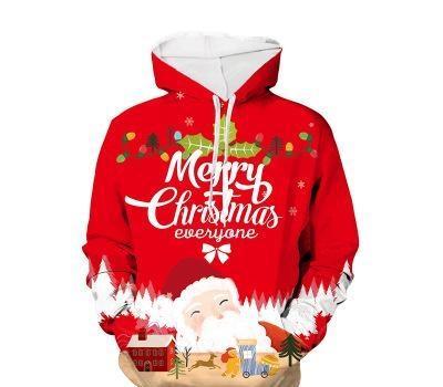 Erkekler ve Kadınlar Tasarımcı Kapşonlu Palto Erkek Noel 3D Dijital Baskı Triko Gençlik Moda Trend Casual Kazak Süveter 2020 Kış Yeni