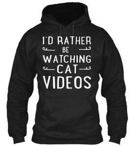 2019ft Cat Videos I 039 d Rather Be Watching 2019 Hoodie 2019 Hoodie Sweatshirt