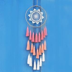 New Fashion Gift Tassel & Lace Dreamcatcher Wind Chimes Tassel Pendant Big Dream Catcher Home Wall Hanging Decor