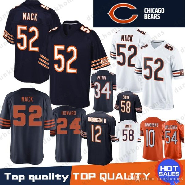 brand new deb1a 66e53 2019 52 Khalil Mack Chicago Bears Jersey 10 Mitchell 17 Nthony Miller 24  Howard 54 Brian Urlache 12 Allen Robinson II 29 Cohen 34 Payton Stitched  From ...