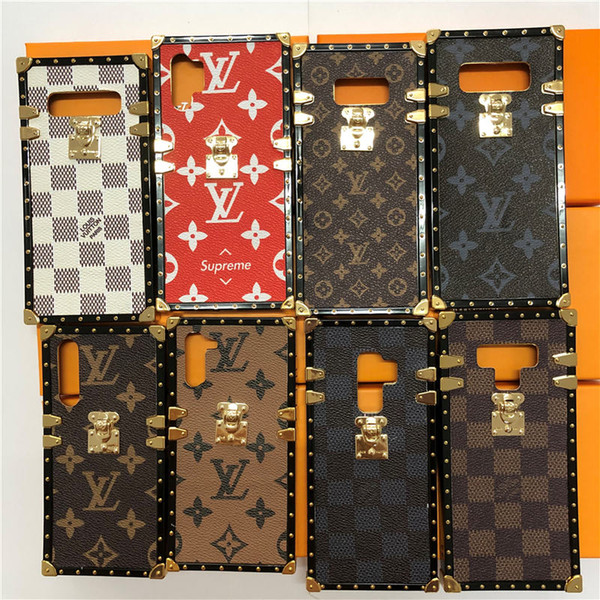xadrez luxo tampa do telefone para Galaxy A750 A7 J2P J4P J6P M30 M20 A70 A50 A10 A20 M10 Capa para Galaxy Nota 10 note10pro 8 9 S8 S9 s10plus
