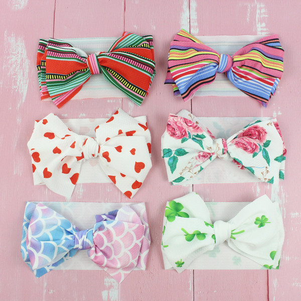 Fabric Bow With Lace Band Baby Girl Headbands Newborn Toddler Variety Lot