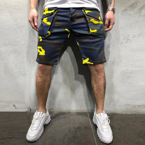 Kargo Şort Yaz Ordu Yeşil Pamuk Şort erkekler Gevşek Çok Cep Şort Homme Rahat Bermuda Pantolon M-3XL