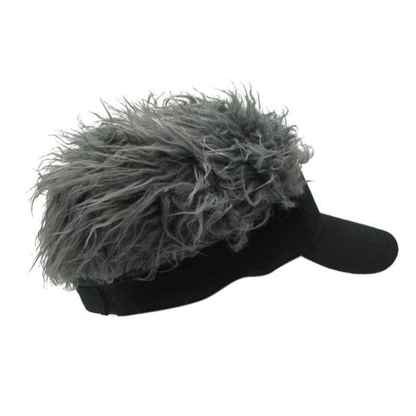 Neuheit Fake Flair Haar Sonnenblende Hüte Männer Frauen Perücke Toupet Lustige Haarausfall Coole Geschenke Tennis Kappe