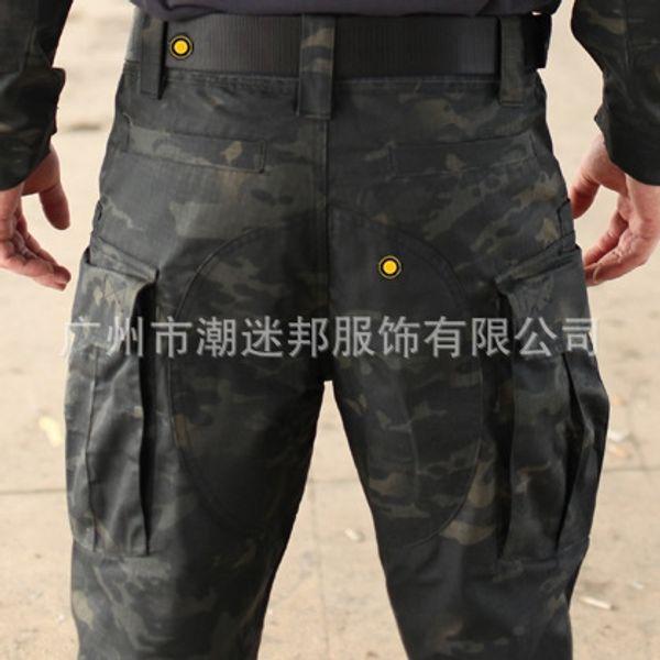 Pantalon de police noire camouflage tactique