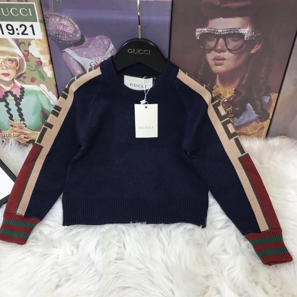 Vente Hot Boy Pull 2019 Marque Automne laine tricotée Pull Cardigan pour bébé Filles enfants Vêtements pour enfants bébé Top sky_baby