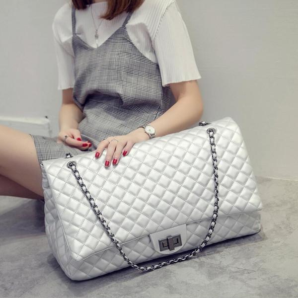 Wholesale-Sac A Main Femme De Marque New Quilted Stella Women Big Bag Chain Lock Handbag Quality Leather Shoulder Crossbody Large Capacity
