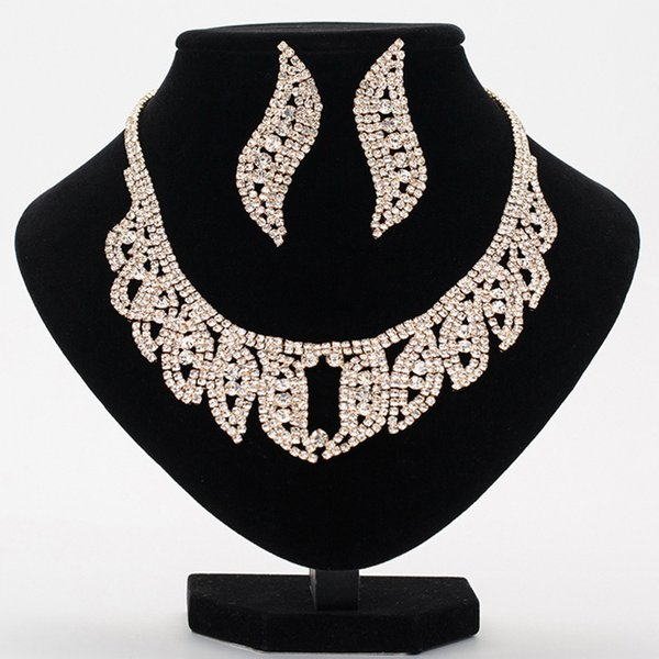 Shiny Wedding Bridal Jewelry Fashion Designer Earrings Set Hot Sale Cheap Bridal Accessories For Wedding Party