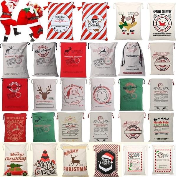 New 36 color chri tma bag large organic heavy canva bag anta ack draw tring bag with reindeer anta clau ack bag for kid 4549