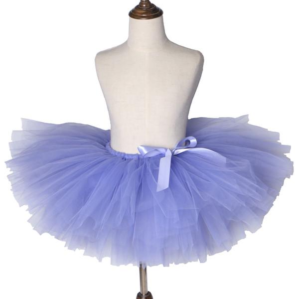 Leylak Mor Kızlar Tutu Etek Çocuk Bale Dans Tül Etek Tutu pettiskirt Prenses Çocuk Etekler Kız Doğum Günü Partisi