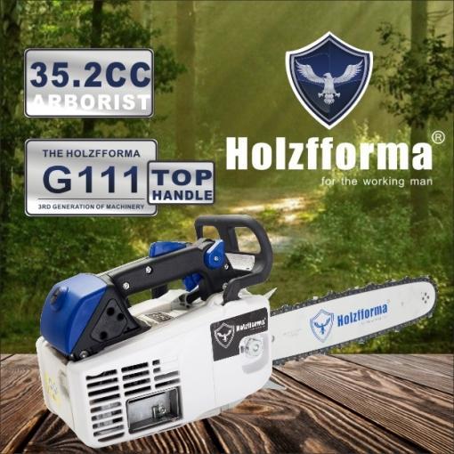 35.2cc Holzfforma® G111 MS200T Motosega commerciale a benzina con barra di guida da 12 pollici e catena di segatura Top Quality By Farmertec Garanzia di un anno