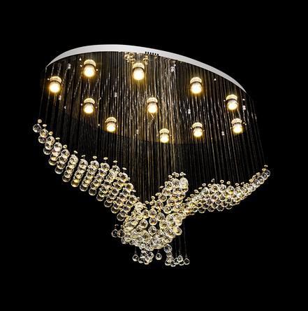 New Bird Shape Crystal Chandelier Light Fixtures Modern Lamp For Living Room Indoor Decoration Glede Ceiling Lamp Av110 220v Llfa Chandelier Table