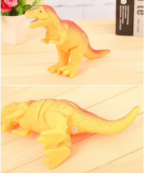 DHL 100pcs Shrilling dinosaur toys 30cm Screaming Rubber dinosaur Squeeze Stress Toy Funny Squeeze Sound Toy children kids Christmas gift