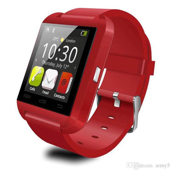 Rohs Time-limited Hot Sale for Android Silicone Strap Smart Watch U8 Wristwatch Cheap Support Bluetooth Speaker Android Mobile Phone 2018