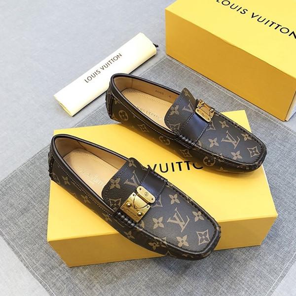 2019O nouvelles chaussures de sport pour hommes occasionnels, bas pour aider les pois de voyage en plein air des hommes de luxe paresseux chaussures, l'emballage boîte originale livraison rapide
