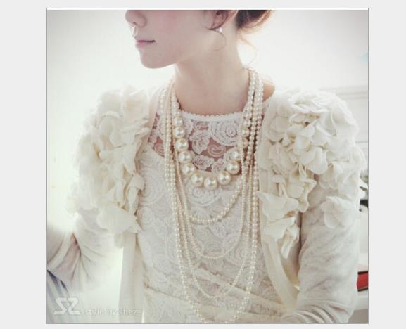 Populaire multi-couche perle chaîne de chandail dames de la mode 100 ensembles long collier