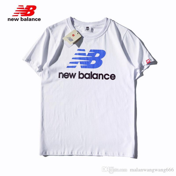 Men and women NB sports casual short-sleeved T-shirt half-sleeved t-shirt round neck Korean version of the retro tide couple