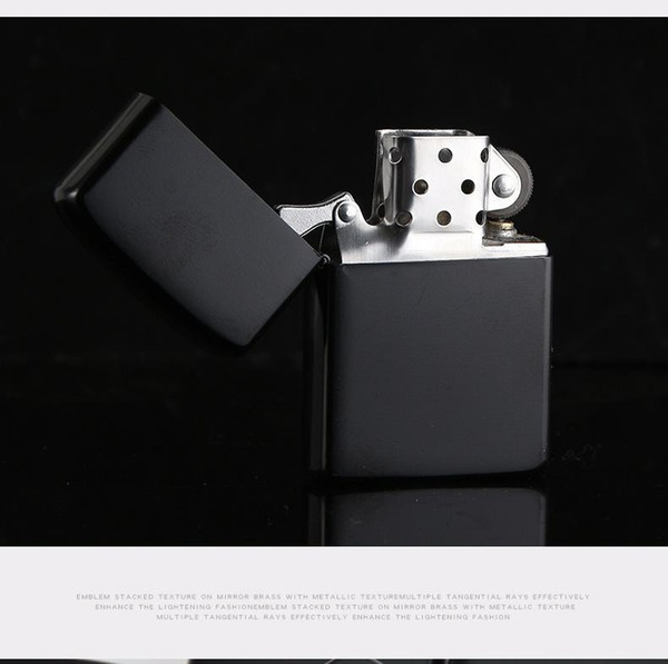 best selling New Arrival Fire Retro Lighter Metal Black Frosted Windproof Torch Metal Cigarette Lighter Smoking Fuel Lighters Cigarette Case