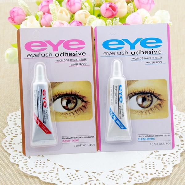 Siyah ve beyaz Pratik Kirpik Tutkal Temizle-beyaz / Koyu-siyah Su Geçirmez Yanlış Kirpik Yapıştırıcı Makyaj Göz Kirpik Tutkal kozmetik Araçları