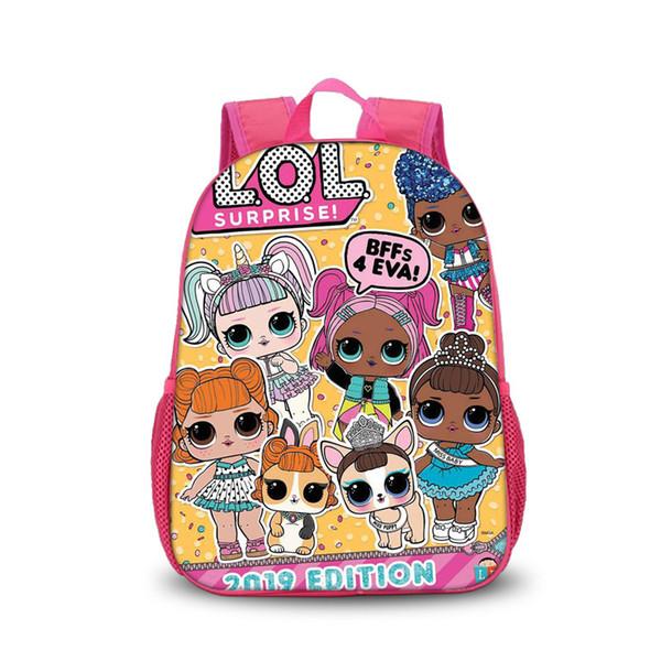 LOL Mochilas para Niños 24 Estilos Muñecas de Dibujos Animados Kawaii Mochila Bebé Niñas Paquete de Hombro Doble para Niños Escuela
