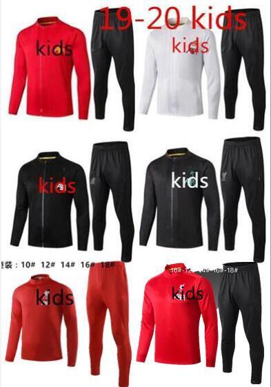 2019/20 de primera calidad de Liverpool Nueva chaqueta kids de la llegada Ropa exterior Chaqueta y pantalón largo Nueva llegada