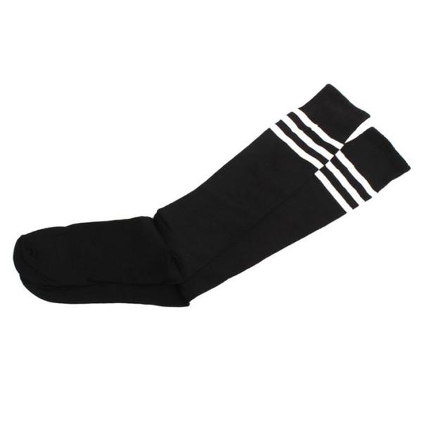 1 Pair Women's High School Black Socks Over Knee Girls Cheer leader stocking elastic breathable sports socks Sokken