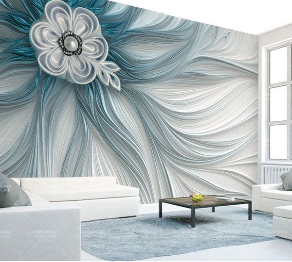 Bacaz Embossed Texture 3d Flower Wallpaper Mural 3d Wall Photo Mural For Living Room Sofa Background 3d Flower Wall Paper Murals Hd Wallpapers High