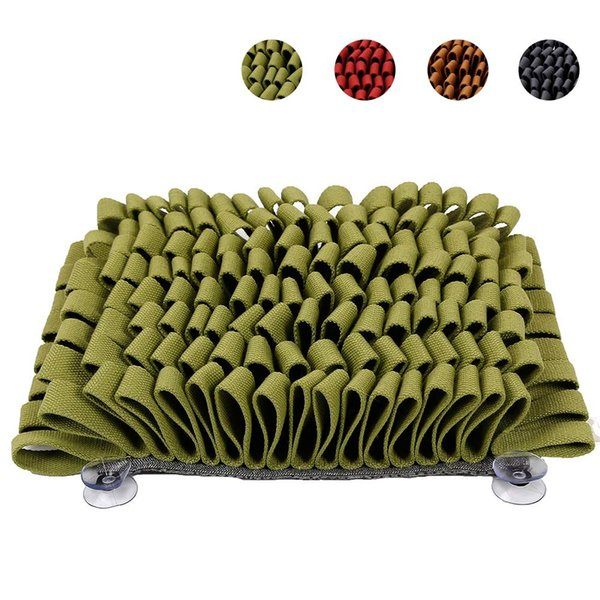 GREEN   Dog Snuffle Mat Pet Puzzle Toy Sniffing Training Pad Cat Nose Work Blanket Washable Dog Cat Smell Pad Toy