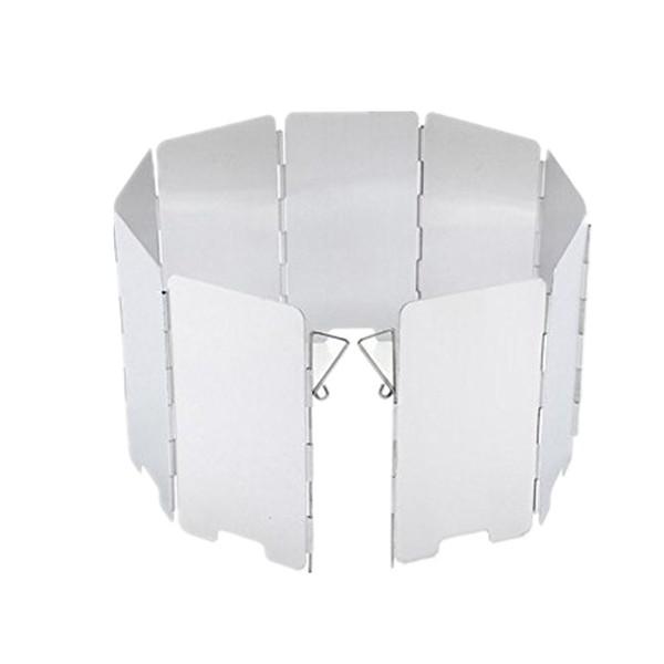 Cortavientos plegable portátil para estufa de camping al aire libre Apto para todo tipo de estufas