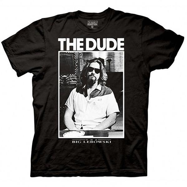Big Lebowski The Dude Photo T-Shirt New Tee Shirt Men's Printing Short Sleeve Crewneck Cotton XXXL Gamer Tee Shirts