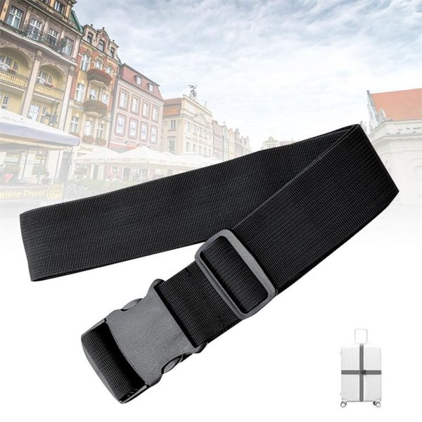 1PC Black Adjustable Luggage Backpack Chest Strap with Quick Buckle Suitcase Travel Bag Packing Belts Accessories