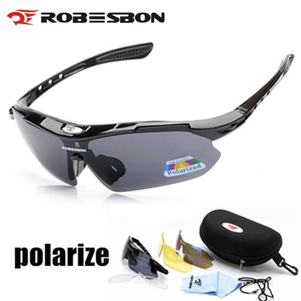 ecc138626d ROBESBON Gafas de Ciclismo Polarizadas Gafas 3 Lentes UV400 Mountain Road  Gafas de Bicicleta MTB Gafas