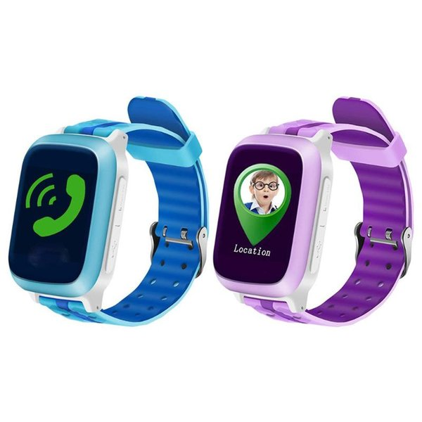 DS18 Impermeabile Smart Phone Watch Bambini GPS Localizzatore GPS LBS Tracker SOS chiamata SIM card Smartwatch Smartwatch